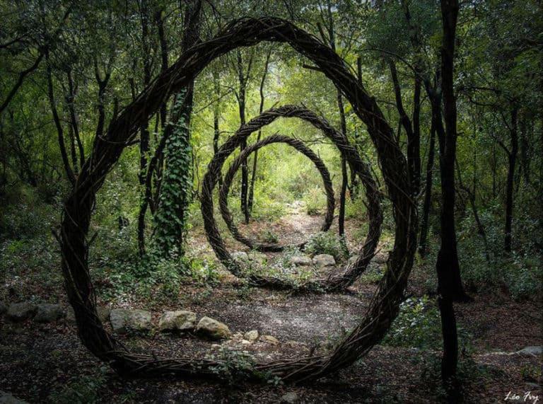 Arbres en forêt et Land-art, la Nature magnifiée